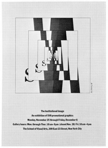 The Institutional Image, exhibition poster