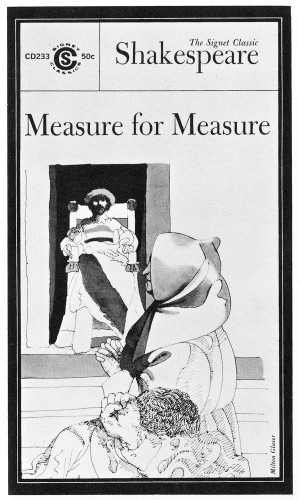 Measure for Measure, paperback book cover