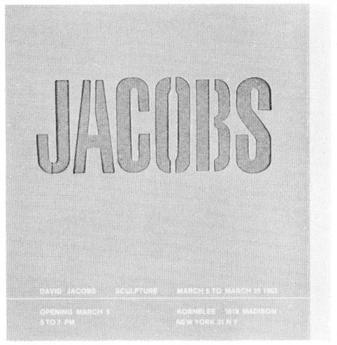 Jacobs, exhibition announcement