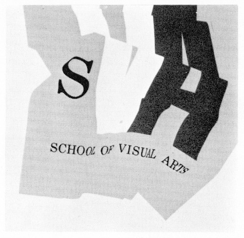 SVA, School of Visual Arts, catalog cover