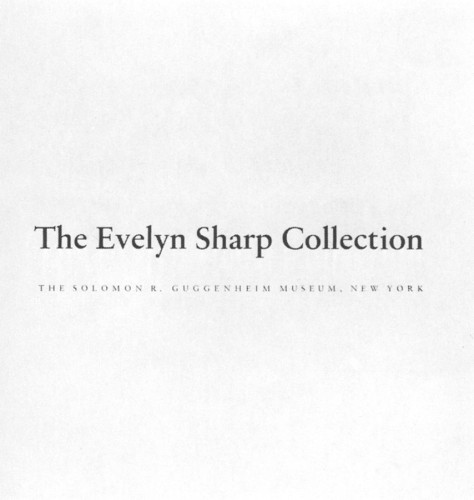 The Evelyn Sharp Collection