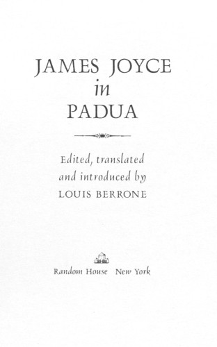 James Joyce in Padua