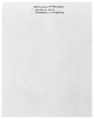 All-American Contest School, letterhead