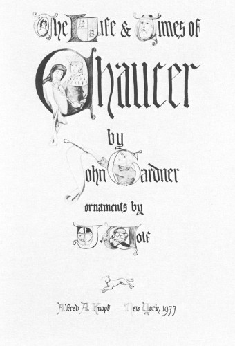 Life and Times of Chaucer