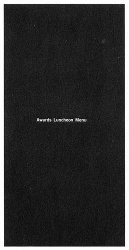 Awards Luncheon, menu