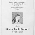 Remarkable Names of Real People