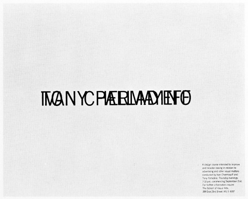 Chermayeff and Palladino, course announcement