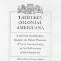 Thirteen Colonial Americana