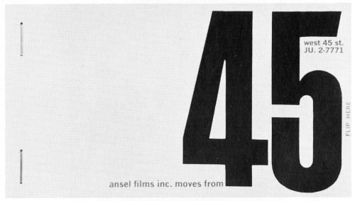 Ansel Films, Inc. moves from…, flip booklet