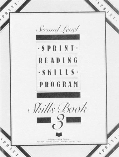 Second Level Sprint Reading Skills Program Book 3