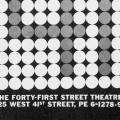 The Forty-First Street Theatre, business card