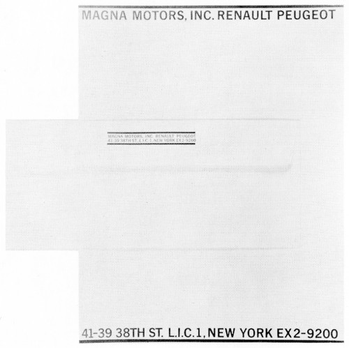 Magna Motors, Inc., letterhead and envelope