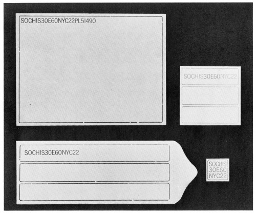 Sochis, letterhead, envelope, labels