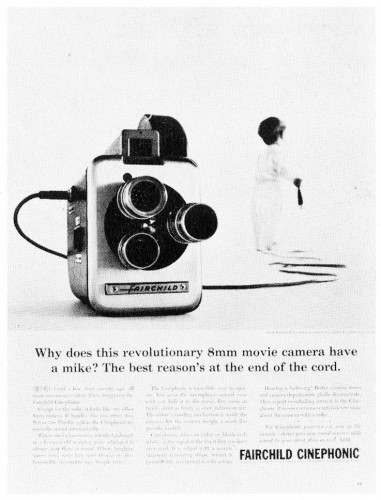 """Why does this revolutionary 8mm movie camera have a mike?"""