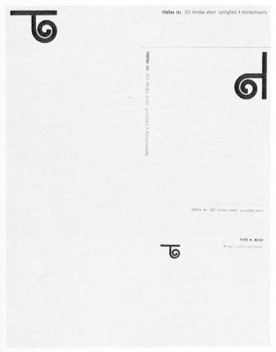 Titeflex, letterhead, envelope and card