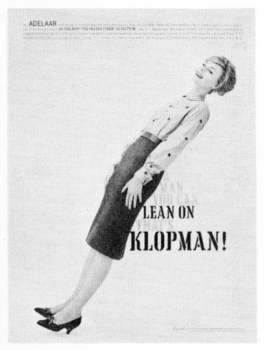 """A Man You Can Lean On That's Klopman!"""