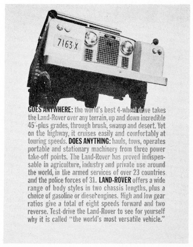 """Goes Anywhere:  The World's Best 4-Wheel Drive"""