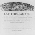 Lay This Laurel