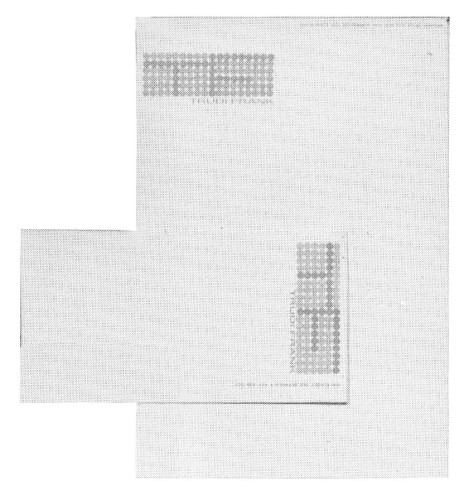 Trudi Frank, letterhead and envelope