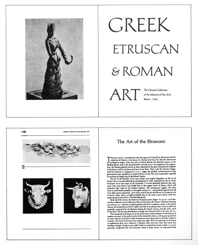 Greek, Etruscan and Roman Art
