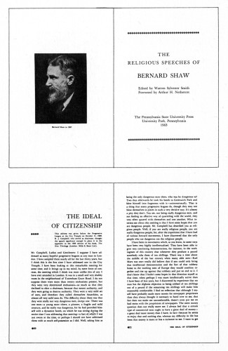 The Religious Speeches of Bernard Shaw