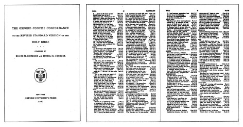 The Oxford Concise Concordance to the Revised Standard Version of the Holy Bible