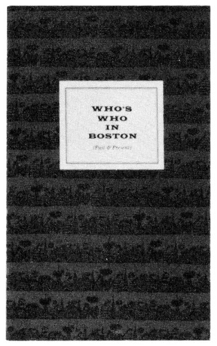 Who's Who in Boston