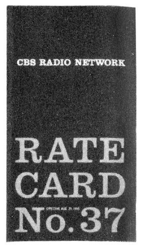 CBS Radio Network Rate Card No. 37