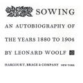 Sowing: An Autobiography of the Years 1880–1904