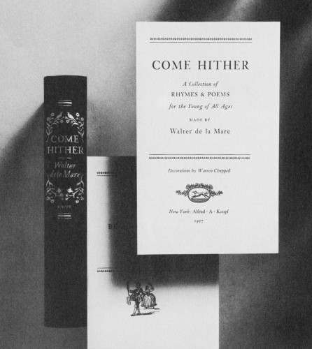 Come Hither, A collection of rhymes and poems for the young of all ages