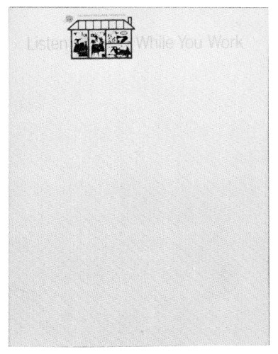 Listen While You Work, letterhead