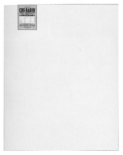 CBS Radio Program Premiere, letterhead