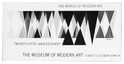 Museum of Modern Art 25th Anniversary, car card