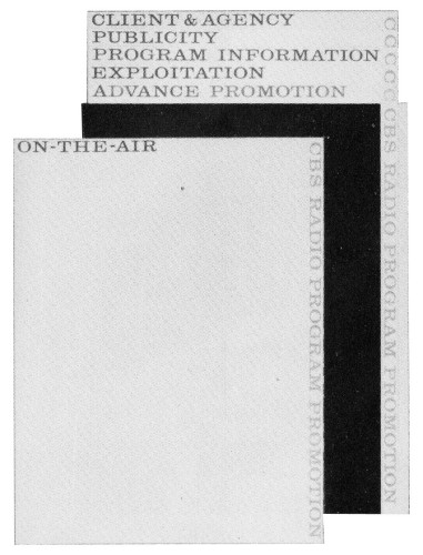 CBS Radio Program Promotion, folder and letterhead