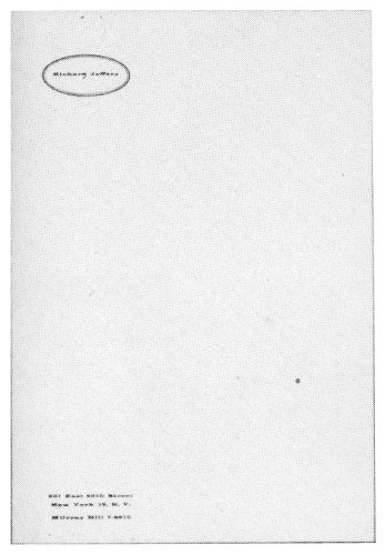 Richard Jeffery, letterhead
