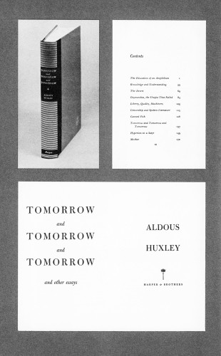 Tomorrow and Tomorrow and Tomorrow, and Other Essays