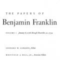 The Papers of Benjamin Franklin, Vol. 1