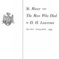 St. Mawr and the Man Who Died