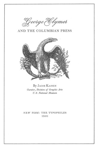 George Clymer and the Columbian Press