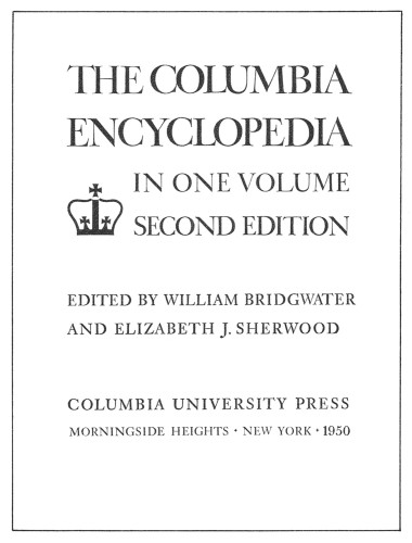 The Columbia Encyclopedia in One Volume (Second edition)