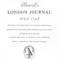 Boswell's London Journal 1762–1763