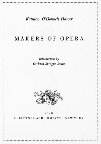 Makers of Opera