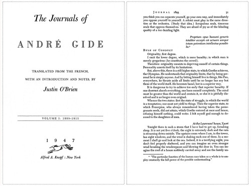 The Journals of André Gide