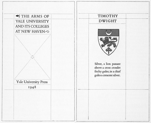 The Arms of Yale University and Its Colleges at New Haven