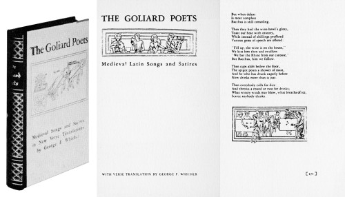 The Goliard Poets, Medieval Latin songs and satires with verse translation by George F. Whicher