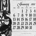 The E.F. Schmidt Calendar 1952