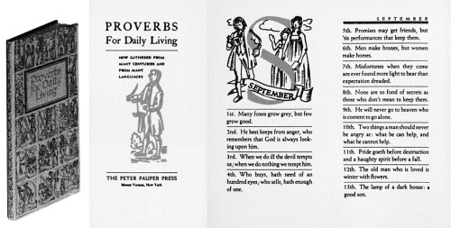 Proverbs for Daily Living, Now gathered from many centuries and many languages