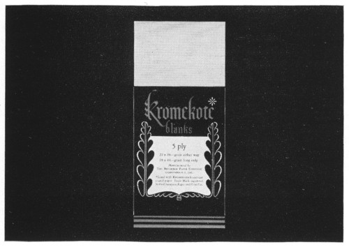 Kromekote Blanks, sample label