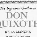 The Ingenious Gentleman Don Quixote de la Mancha