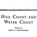 Hail Chant and Water Chant, Navajo Religion Series\, Volume II\, illustrated